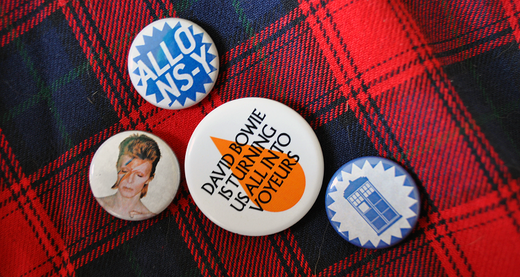 Outfit - David Bowie and Doctor Who badges